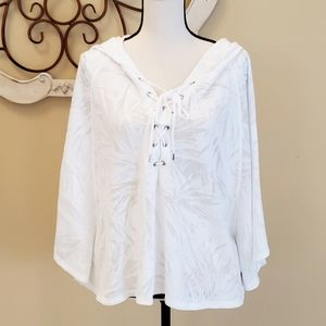VictoriasSecret Women's Pullover Cover up Hood Top